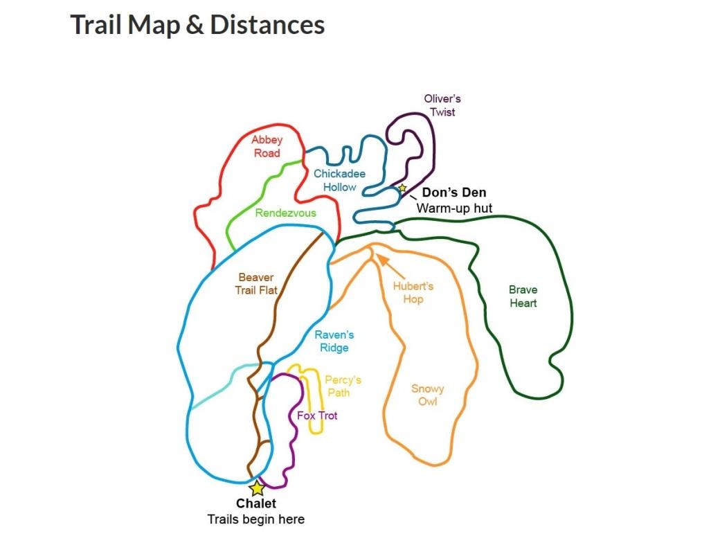 Whaleback Trail Map